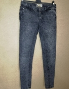 Terranova Elastyczne jeansy marmurki rurki skinny 36 38...
