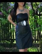 czarna sukienka ze skóry
