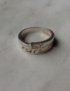 Srebro próba 925 pierścionek grecki wzór 17