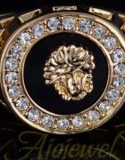 pierścionek Versace 18K cyrkonie