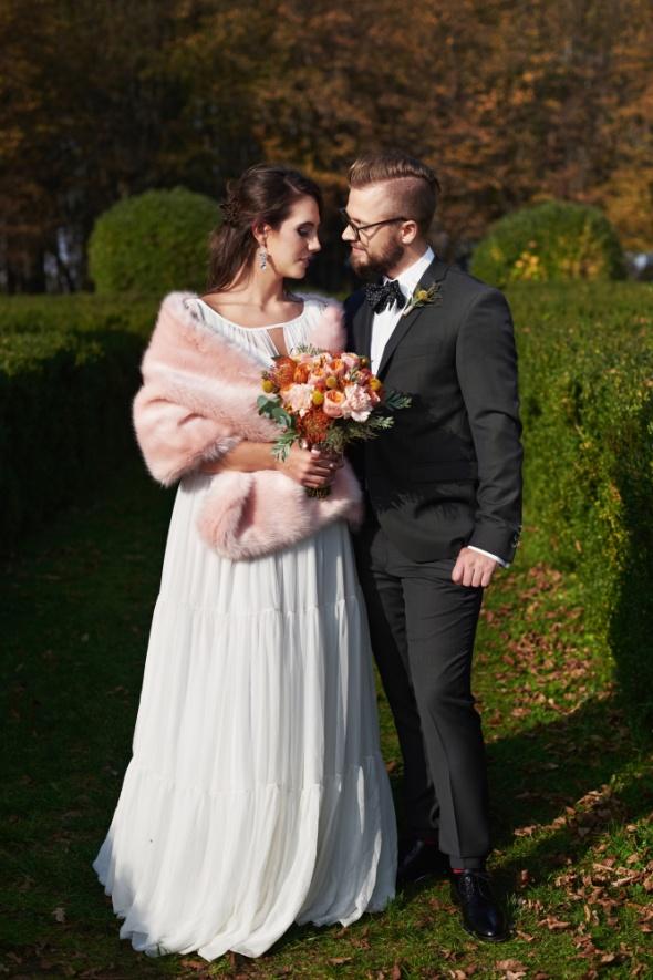 stylizacja ślubna różowa