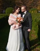 stylizacja ślubna różowa...