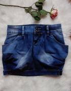 Spódniczka jeansowa bombka S