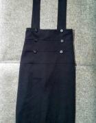 Spódnica czarna midi szelki