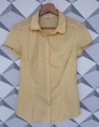Camaieu żółta bluzka z krótkim rękawem