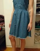 Jeansowa sukienka Bershka