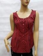 Nowa czerwona koszula w kratę produkt francuski S