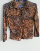 Bluzka mgielka w panterke C&A 34