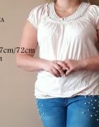 Pudroworóżowa bluzeczka bombka marka PAPAYA rozmiar 44