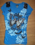 Bluzka niebieska motyle