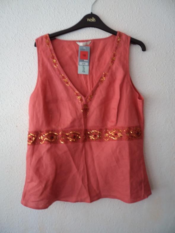 Bluzki nowa lniana bluzka len XL XXL 44 Marks&Spencer