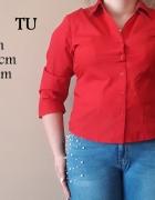 Czerwona klasyczna koszula marka TU rozmiar 46