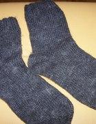 Skarpety hand made nowe wełniane zimowe ciepłe