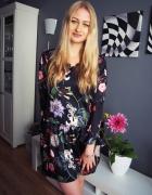 Luksusowa Sukienka w kwiaty Nowa