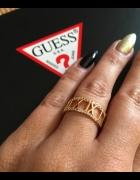 Nowy pierścionek Bvlgari stal cyrkonie model calen
