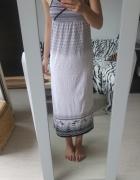 Maxi sukienka h&m biała