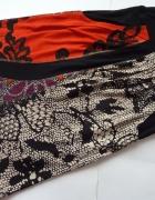 Kolorowa spódnicaz kieszeniami 36 38