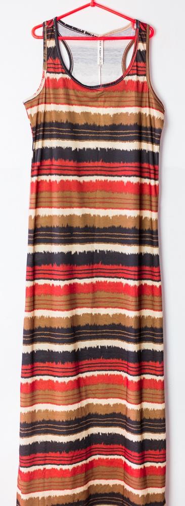 d5fa1a6640 letnia długa sukienka maxi brazowa etno boho w Suknie i sukienki ...