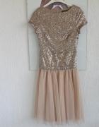 Super sukienka tiul cekiny wesele