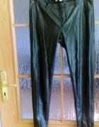 Spodnie rurki czarne eko skóra 38 40 gratis...