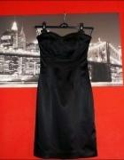 Czarna Sukienka z Satyny OASIS Wysyłka GRSTIS...
