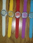 Zegarek GENEVA jellycyrkonie nowy 5 kolorow...