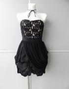 Next gorsetowa sukienka czarna z koronką 36