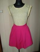 nowa różowa spódniczka