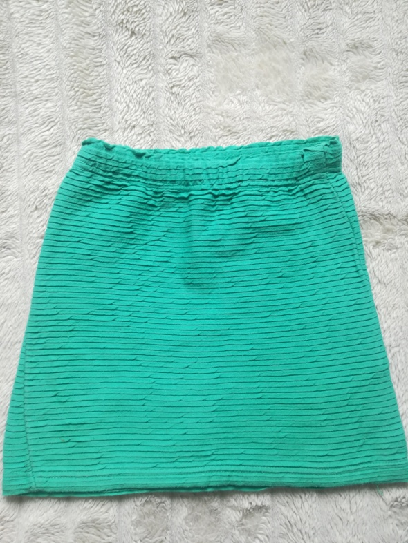 spódnica miętowa mini