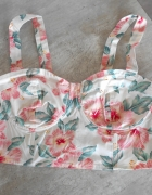 New Look gorset bralet kwiaty floral tropical