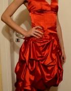 Czerwona sukienka balowa długa studniówkowa studni