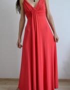 czerwona sukienka bal studniówka XS S M 34 36 C&A