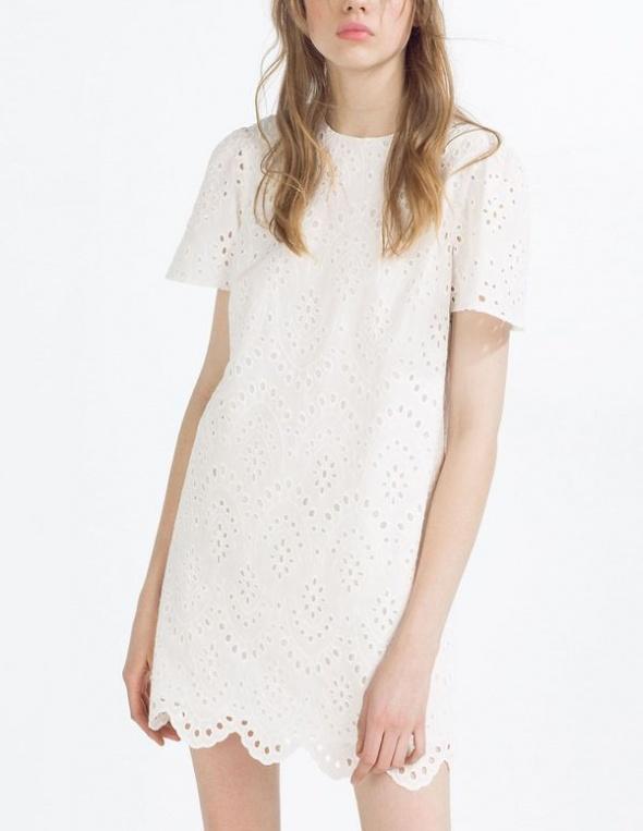 Sukienka biała dziurkowana...