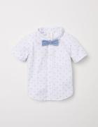 Koszula i mucha biała w kropki H&M rozmiar 92