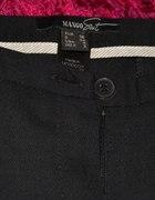 eleganckie czarne spodnie do pracy w kant...