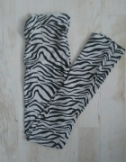 Nowe legginsy w zebrę H&M S XS...