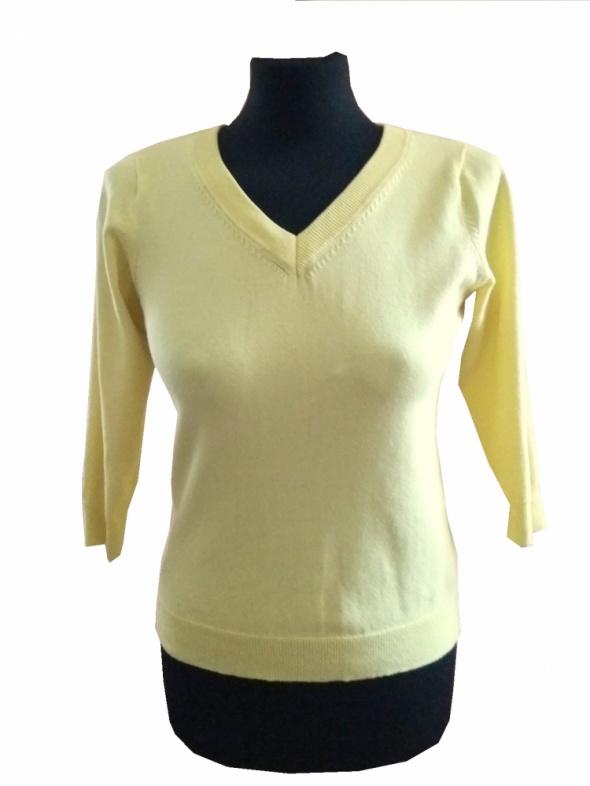 Atmosphere żółty cytrynowy sweterek rękaw 3 4 rozm M L dekolt V...