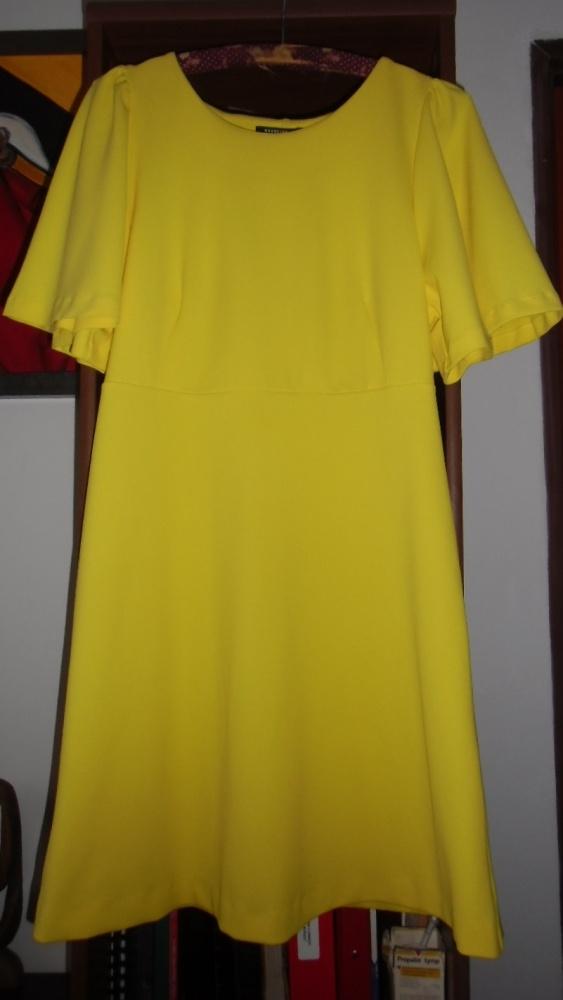 Żółta sukienka Reserved Retro
