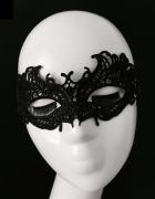 Koronkowa maska czarna wenecka bal goth victorian retro