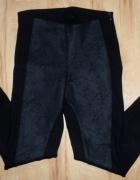 Legginsy Spodnie ze wstawkami ze skóry Zara XS