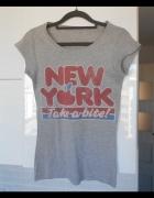 Topshop koszulka z nadrukiem new york tshirt retro