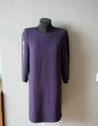 Fioletowa sukienka Zara