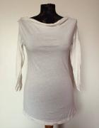Zara biała ecru kremowa bluzka koszula rękaw długi