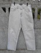 męskie Spodnie LEE beżowe dżinsy S oryginał