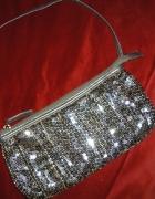 Złoto srebrna elegancka torebka kuferek...