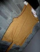 Bluzka wiązana musztardowa TOP SHOP roz S