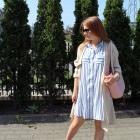 Sukienka koszulowa w pasy