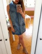Jeansowa sukienka kołnierz Vero moda XL 42 denim