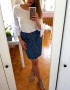 Jeansowa spódnica H&M guziki M 38