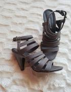 Sandałki sandały na obcasie gladiatorki jak nowe